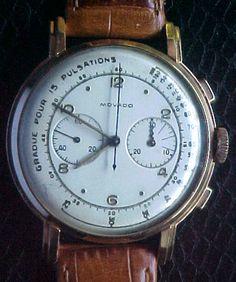 18k Rose Gold Vintage MOVADO Calibre 90 Doctor's Chronograph