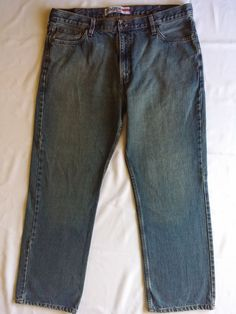 Men's Levis Denizen Jeans 281 Straight Fit 42W x 30L. Straight Leg. Zippered Fly. Waist: 42. | eBay!