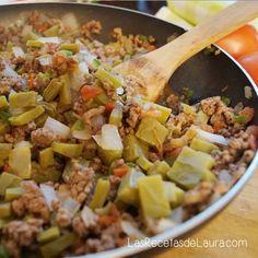 carne molida con nopales, deliciosa con alto contenido de fibra y proteina, para las personas que buscan bajar de peso es ideal