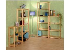 Meghan Solid Pine Bookcase Set - Home and Garden Design Ideas