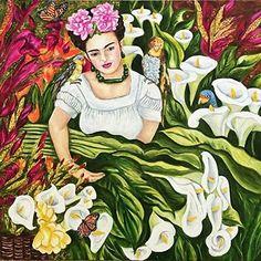 Frida's Garden Frida Kahlo Art Print by k Madison Moore Archival Inks ~ various sizes x