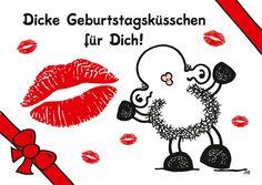 Dicke Geburtstagsküsschen für Dich! | sheepworld | Echte Postkarten online…