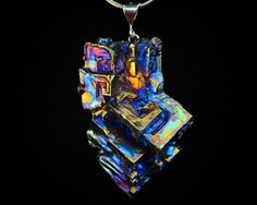 Tessellation Iridescent Bismuth Metal Crystal and by Element83, $38.00