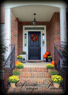 Fall front step decor