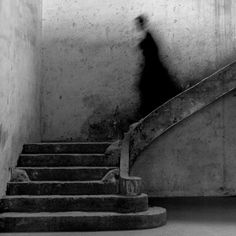 Gary descending staircase, Parc de Sceaux, Paris, 1995, by Rodney Smith.