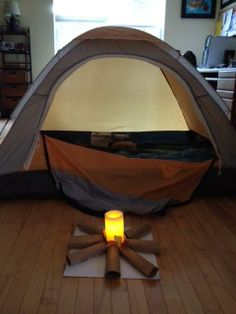 Plan the perfect indoor campout for your kids and their friends on a rainy day this spring or summer.