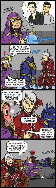 Soraka Excellent Adventure: Meanwhile in a summoner house