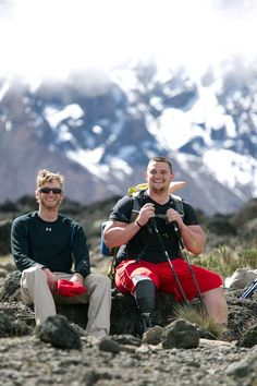 On the way to the summit of Mt. Kilimanjaro to raise awareness for Wounded Warrior Project