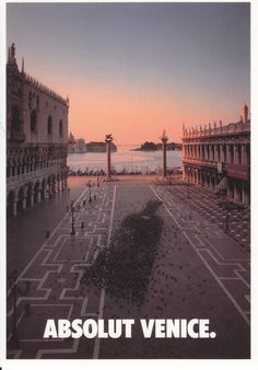 Absolut Venice (from boxed set Absolut Cities of Europe, 1994).
