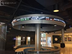 upgraded from an old tri color DAKTicker to a new full color stock ticker at U of Memphis's Fed Ex Institute of Technology