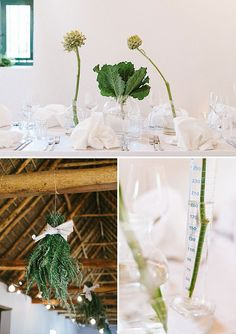 Fresh wedding styling, simple elegance  Miss Moss : A Wedding at Babylonstoren