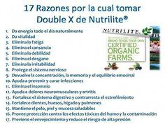 17 Razones por las cuales se debe tomar Doble X de Nutritrilite