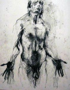 complainte d'un homme - Aurore Lephilipponnat- Artiste peintre