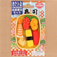 Iwako erasers Delivery Sushi 6 pieces set