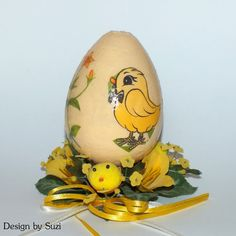 Design by Suzi: Polystyrénové vajíčka Easter Eggs, Decoupage, Jar, Spring, Design, Jars, Glass