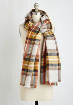 Fall Night Long Scarf in Brown | Mod Retro Vintage Scarves | ModCloth.com