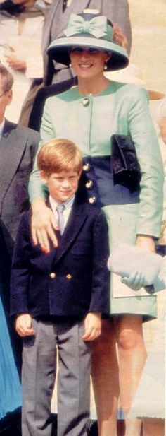 Princess Diana and Prince Harry - 1992