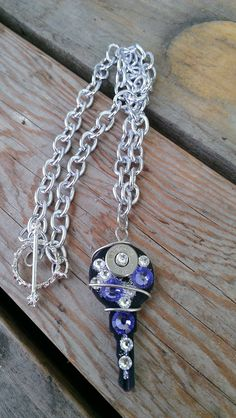 Bullet Bling Key Necklace by Sarahsjewelrydesigns on Etsy, $35.00