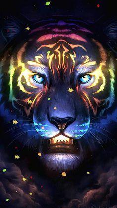 Neon Tiger wallpaper by BenjaminBun - edd3 - Free on ZEDGE™