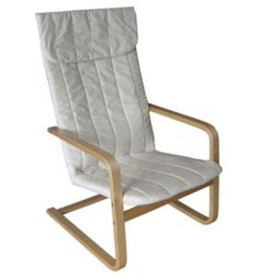 Contemporary Arm Chair Living Room Furniture Eggshell White Fabric Finish New