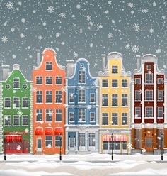 Winter in Town Illustration of old european town at winter with snowfall EPS 10 contains transparency Created 3 December 13 Graphics Files Included Vector EPS Layered Yes Minimum Adobe CS Version CS Tags architecture stan year Illustration Noel, Building Illustration, Winter Illustration, Christmas Illustration, City Drawing, House Drawing, Cultural Architecture, Architecture Old, Christmas Drawing