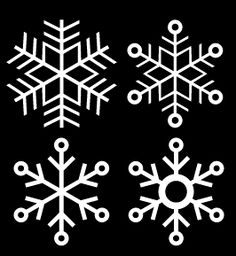 free snowflake set cut files (with 8 different snowflakes) -- from Birds Cards #free #digi #download