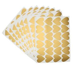 Gold heart decals are perfect to create a unique pattern that fits your style. Wall Decals are an easy, affordable way to decorate any space, easy to apply and easy to remove. Gold heart are one of many color choices for these easy to use vinyl wall decals. These are peel and stick decals so they WILL NOT come with transfer tape. Vinyl Wall Decals, Wall Stickers, Monogram Decal, Transfer Tape, Used Vinyl, Laptop Decal, Heart Of Gold, Choices, How To Remove