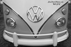 Vintage VW Bus Photo  Black and White by SuePetriPhotos on Etsy, $90.00