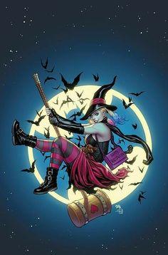 "thecomicninja: "" Harley Quinn by Frank Cho "" DC Comics - Harleen Quinzel Frank Cho, Halloween Imagem, Halloween Art, Happy Halloween, Halloween 2018, Harley Quinn Halloween, Joker And Harley Quinn, Character Drawing, Comic Character"