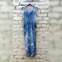 Denim Jumpsuit Tie Dye Playsuit Romper Overalls with by AbiDashery