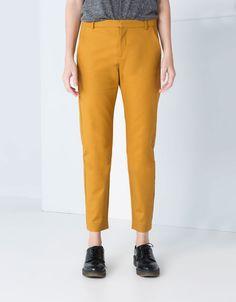 Bershka Switzerland -Bershka double fabric trousers
