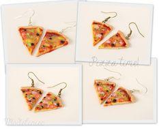 Kolczyki pizza/ Polymer clay pizza  #polymerclay #pizza #earrings