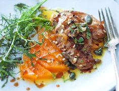 Escalope de foie gras de canard au potiron confit