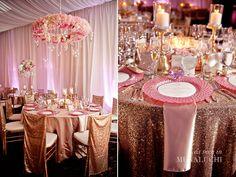 rose gold wedding decor….. photographer: milanes photography