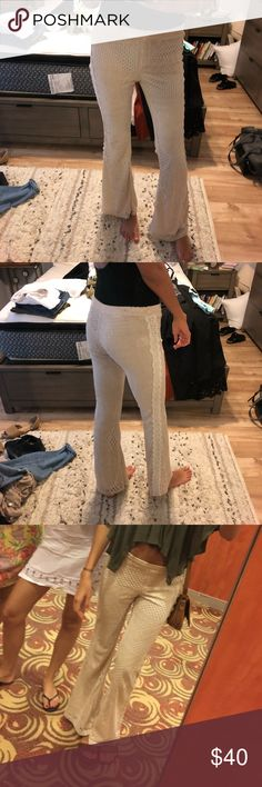 Crochet Bell Bottom Pants So comfy and in great condition. I just never wear them  Tags: Revolve, Free People, For Love & Lemons, Lulus, BLANKNYC, Tularosa, BB Dakota, Urban Outfitters, Missguided, Nastygal, NBD, LF, Brandy Melville Urban Outfitters Pants Boot Cut & Flare