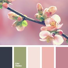 "Warm shades of peachy-pink colour are just perfect for bedroom. But we advice to dilute this ""softness"" with olive and dark green colours for your husband."