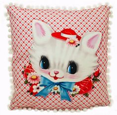 Adorn your home with our new kitsch-tastically retro cushions, lovingly hand-made in England.
