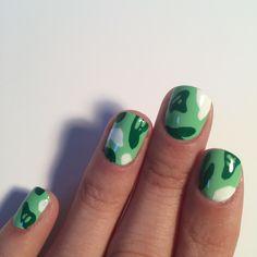"""""""Bape camo nails by me """" So cute Nail Design Stiletto, Nail Design Glitter, Cheetah Nail Designs, Manicure, Gel Nails, Nail Polish, Minimalist Nails, Nail Swag, Nailart"""