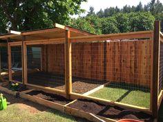 Backyard Dog Area, Backyard Fences, Backyard Landscaping, Pool Fence, Outdoor Dog Area, Outdoor Dog Runs, Backyard Ideas, Outdoor Dog Kennel, Dog Pen Outdoor