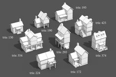Elevate your workflow with the Houses for Fantasy Village asset from GrigoriyArx. Find this & other Fantasy options on the Unity Asset Store. Cute Minecraft Houses, Minecraft Banner Designs, Minecraft Houses Survival, Minecraft Banners, Minecraft Plans, Amazing Minecraft, Minecraft City, Minecraft Houses Blueprints, Minecraft Construction