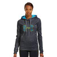 Women's Armour Fleece Storm Embroidery Big Logo Hoodie - size Adult M
