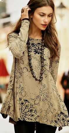 Stenciled fabric idea for clothing