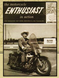 This is a 8 X 11 photo copy of Roy Rogers on his Harley in Rarely known is Roy Rogers love of the Harley. This is a rare picture of him on his motorcycle instead of his horse. The photo copy is printed on Dell Premium photo paper with a high gloss. Flat Track Motorcycle, Motorcycle Posters, Motorcycle Wheels, Cool Motorcycles, Vintage Motorcycles, Harley Davidson Motorcycles, Hd Vintage, Vintage Bikes, Vespa