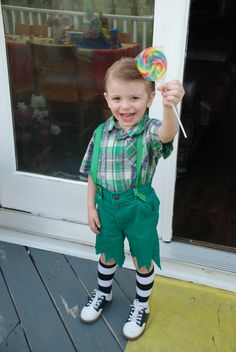 Munchkin Costume I made for Cain Asher to wear at Sophie's 8th Wizard of Oz Birthday Party.
