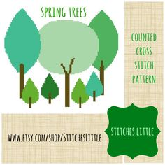 A personal favorite from my Etsy shop https://www.etsy.com/listing/185432874/forest-cross-stitch-spring-trees-modern