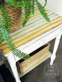 side table makeover cottage chic, painted furniture