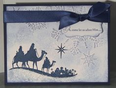 Stampin up Come to Bethlehem Religious Christmas Cards, Christmas Cards To Make, Xmas Cards, Handmade Christmas, Holiday Cards, Christmas Ideas, Christmas Crafts, Greeting Cards, Christian Christmas