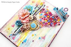Simply Paper Crafts: Love Art Mixed Media canvas