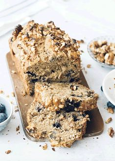 blueberry banana bread wild Wild Blueberry Banana BreadYou can find Medical medium and more on our website Banana Bread Brownies, Blueberry Banana Bread, Gluten Free Banana Bread, Medium Recipe, Nutrient Rich Foods, Wild Blueberries, Banana Bread Recipes, Whole30, Dairy Free