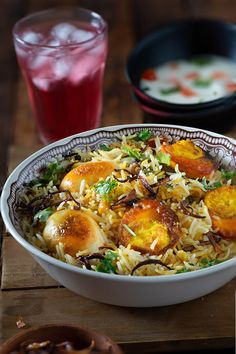 Egg Biryani Recipe - Hyderabadi Dum Biryani Style - My Tasty Curry Baked Pasta Recipes, Rice Recipes, Salmon Recipes, Indian Food Recipes, Cooking Recipes, Veggie Recipes, Cooking Tips, Recipies, Risotto